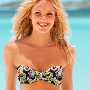 Victoria's Secret Paisley Push Up Bandeau Top 32B
